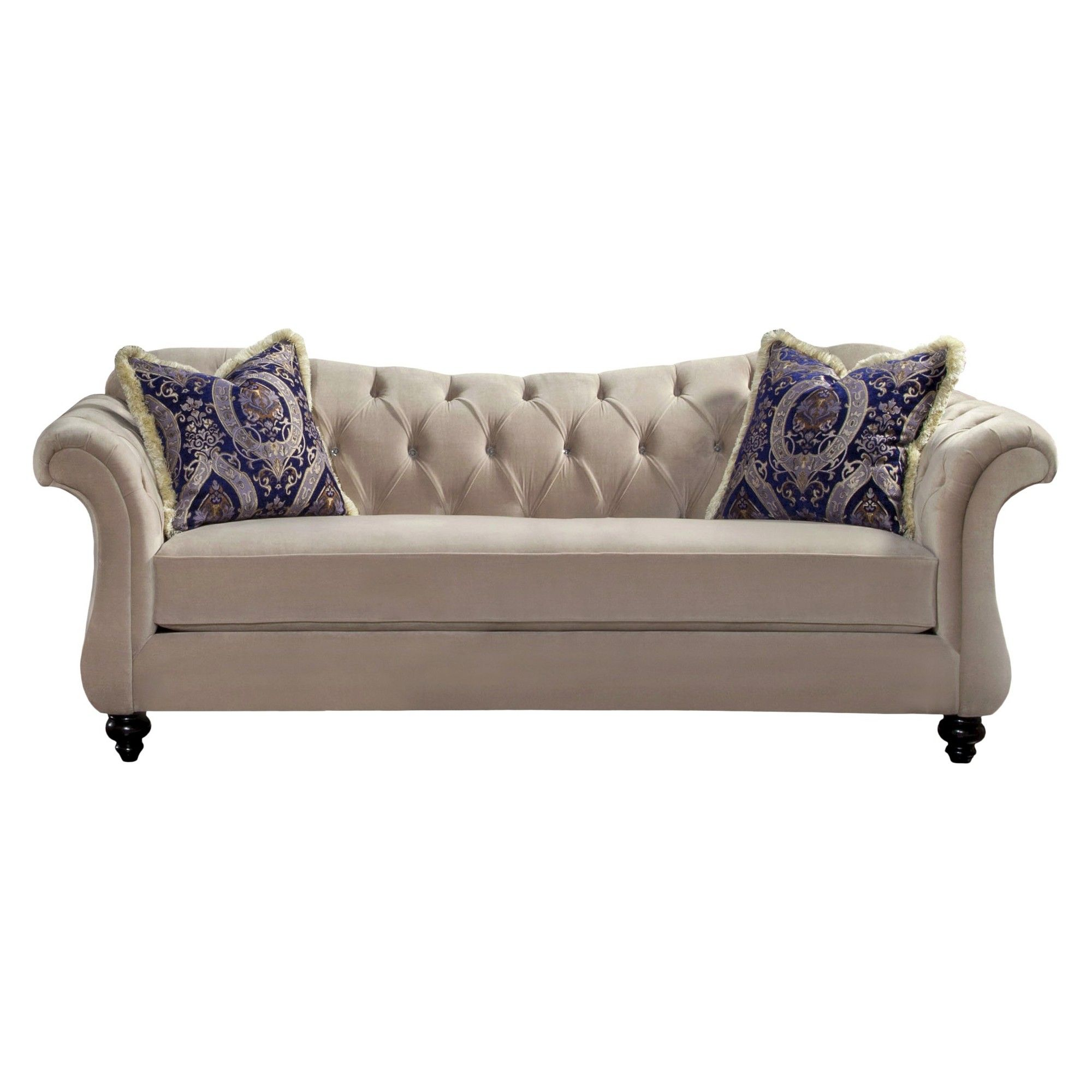 Iohomes alexandria victorian style sofa in beige