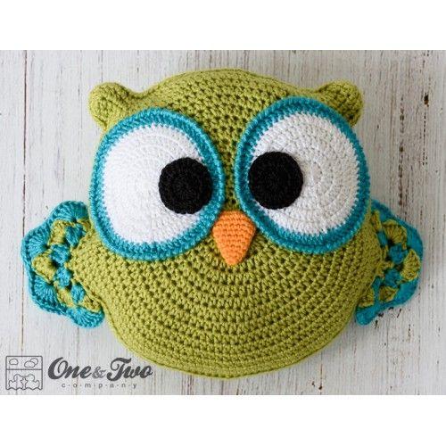 Ollie the Owl Pillow Crochet Pattern | Crochet Owls | Pinterest | Kissen