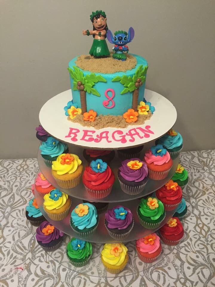 Lilo and stitch cake cake creations by tiana pinterest for Diy decoracion cumpleanos