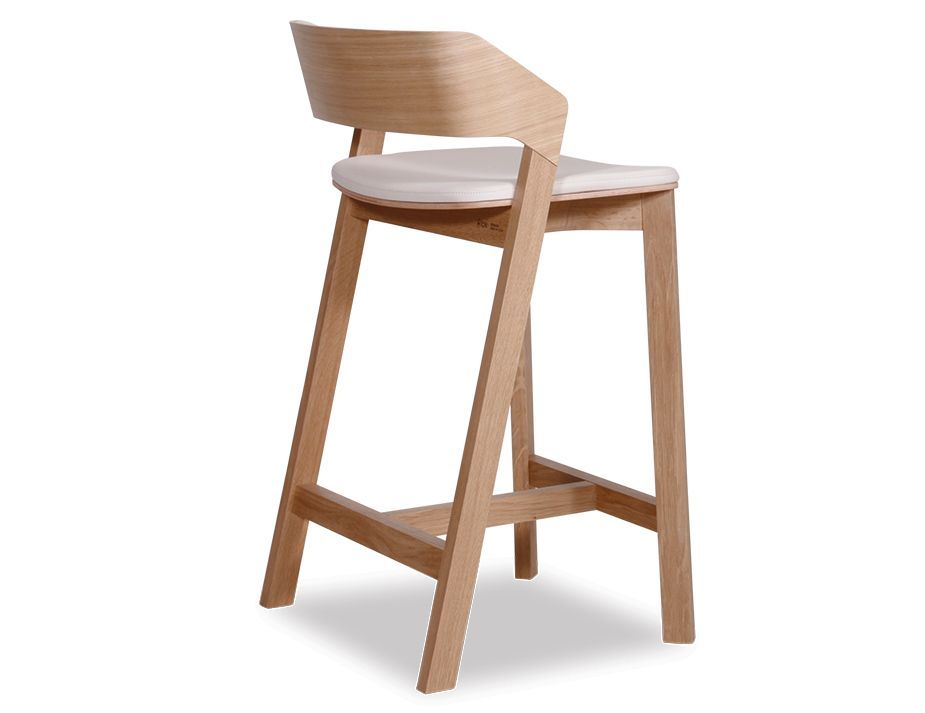 Miraculous Merano Natural Oak Bar Stool W Elmosoft Custom Leather Pad Forskolin Free Trial Chair Design Images Forskolin Free Trialorg