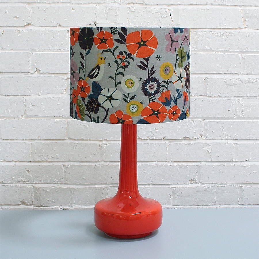 Bell Bottom Ceramic Table Lamp in