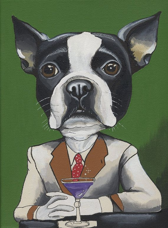 Hair of the Dog . Original Dog Painting 23X30cm by blackspecs, €150.00