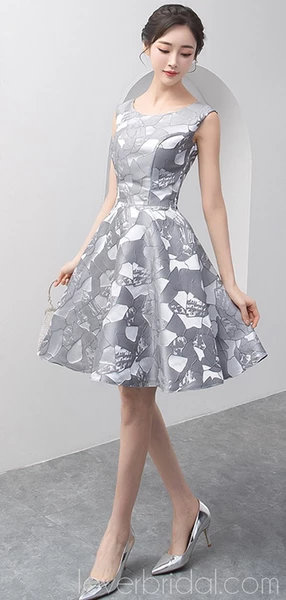 dfbf5ca28b53 Grey Scoop Unique Cheap Homecoming Dresses Online, Cheap Short Prom ...