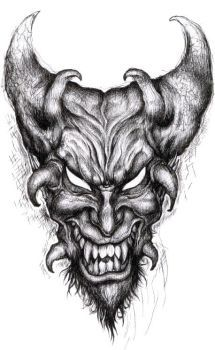 b93e7db301054 a demon head , in pencil , thanks for viewing! | Skullzz☯☮♅ in ...