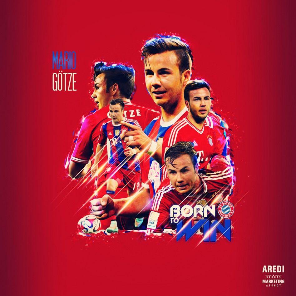 Mario Götze, Bayern München, sport illustration, poster, graphic, social, design, football, illustration, media, AREDI, #sportaredi