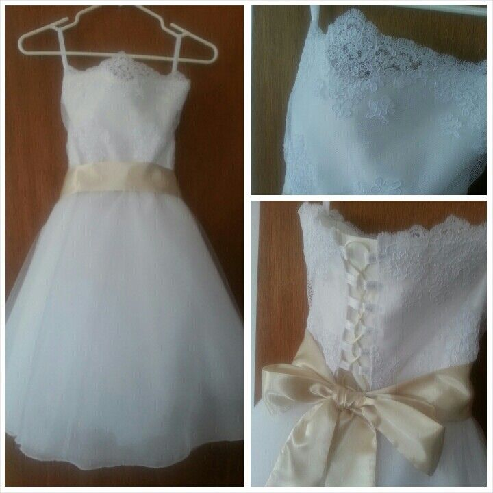 flower girl dress with corset back