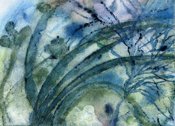 Beach decor Under the Sea 1 Watercolor by ArtGirlWatercolors