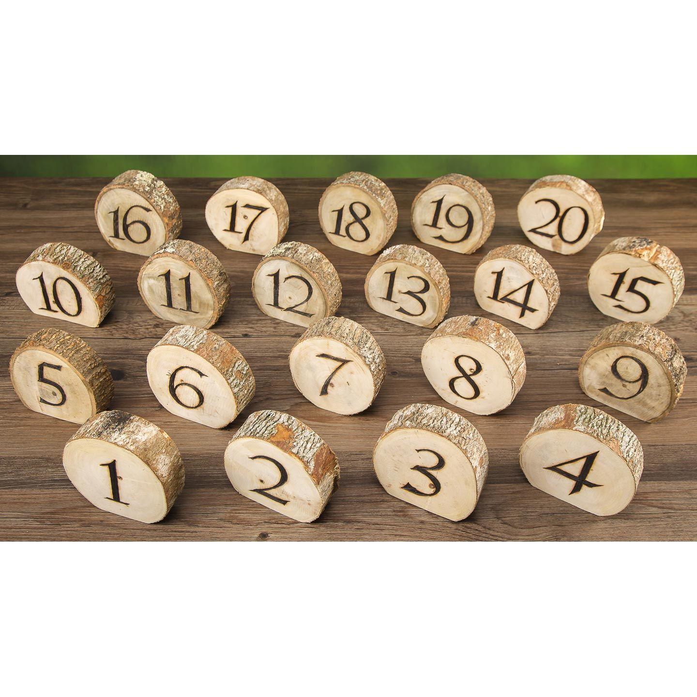 David Tutera Wedding Centerpiece Ideas: David Tutera™ Rustic Wedding Wood Slice Table Numbers: 20