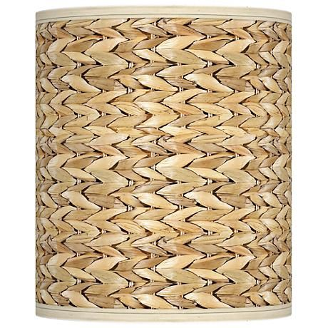 Seagrass giclee shade 10x10x12 spider style n3786 n6436 the woven pattern of the giclee printed seagrass design on this cylinder drum lamp shade will mozeypictures Gallery