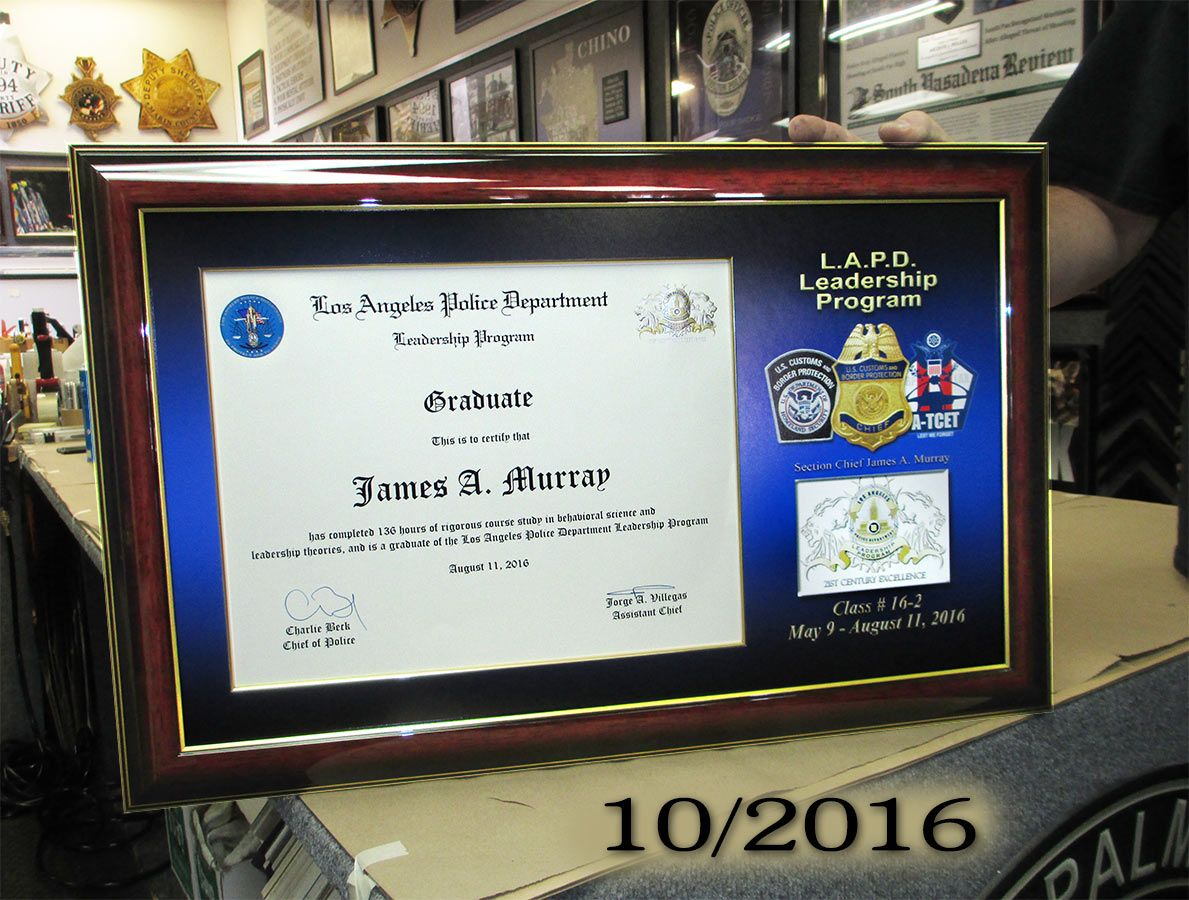 James murray lapd leadership certificate from badge frame 10 james murray lapd leadership certificate from badge frame 102016 1betcityfo Image collections