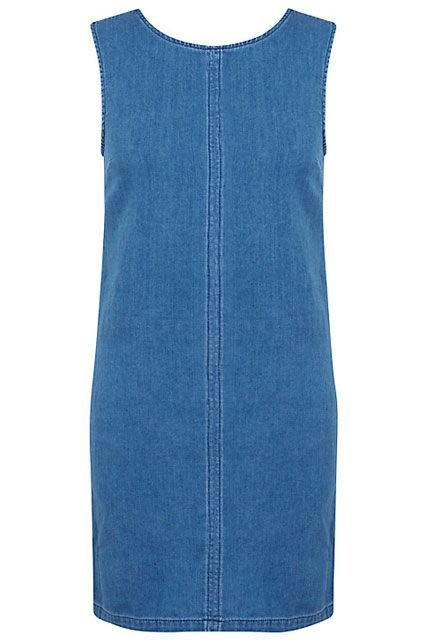 The Summer Dress That Looks Good On Everyone #refinery29  http://www.refinery29.com/flattering-shift-dresses#slide-12  Until you find those perfect cutoffs for your butt, try an easy denim shift on for size.