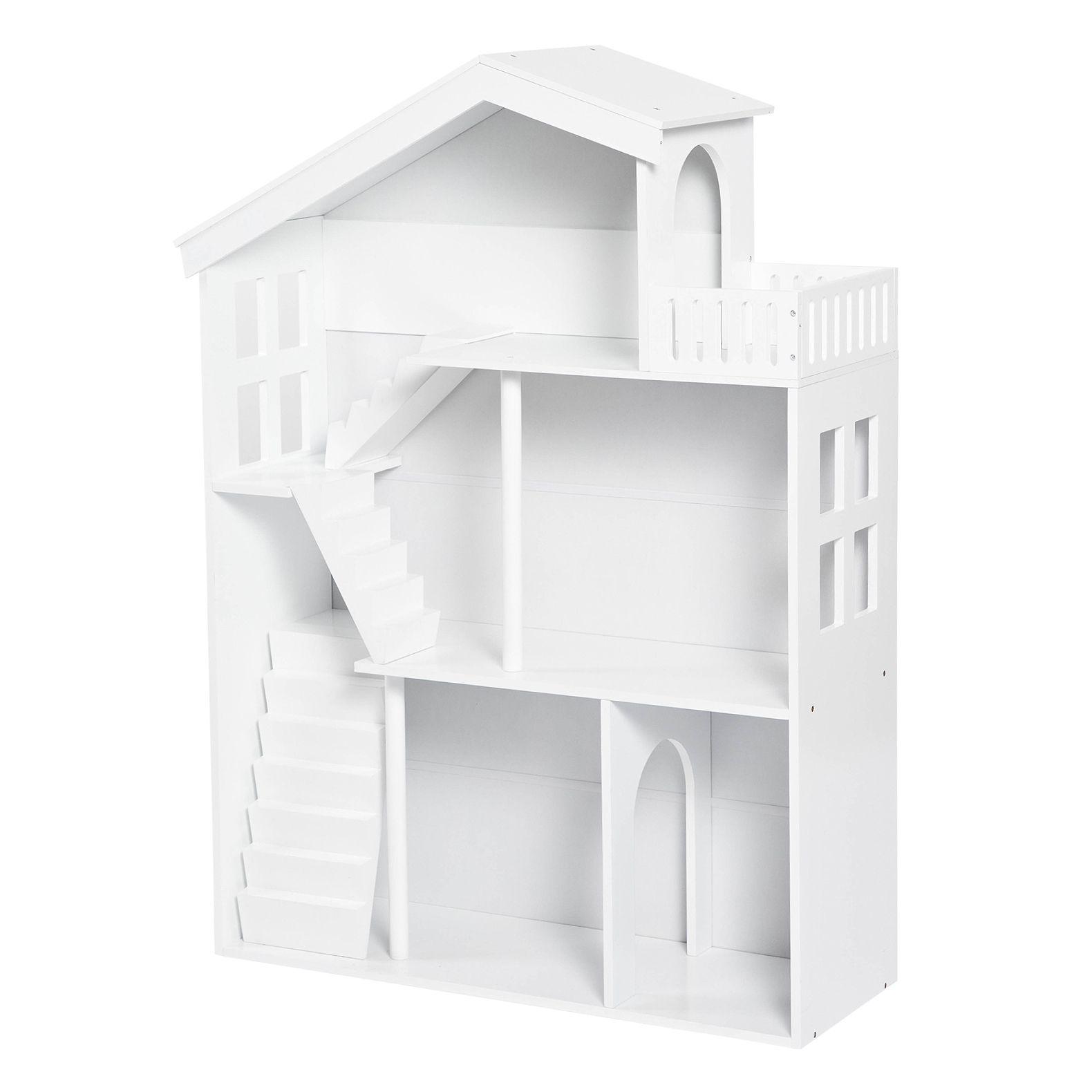 Kinderzimmer Puppenhausregal Aus Holz Weiss Ca 82x116cm Kinder Zimmer Regal Kinderzimmer Kinderzimmer