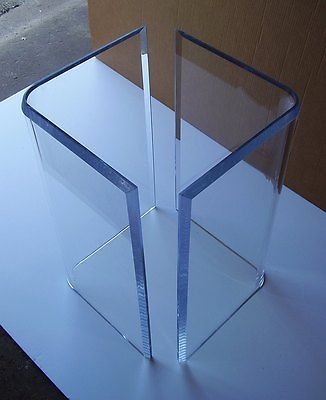 Acrylic V S Or Boomerang Dining Table Bases 2 Clear Lucite