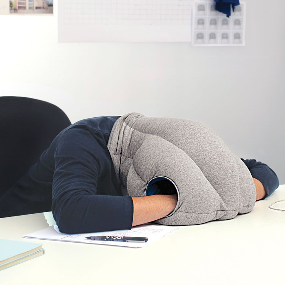 The Power Nap Head Pillow Hammacher Schlemmer Idee Gadgets