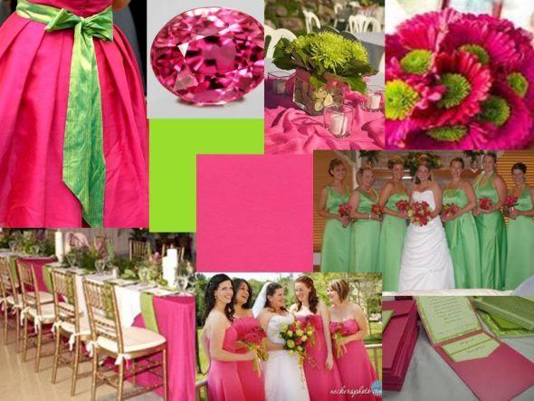 Spring wedding colors? : wedding colors spring wedding Hot Pink ...