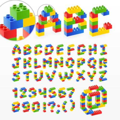 Quality Graphic Resources: Lego Blocks - Vector Alphabet | L is for