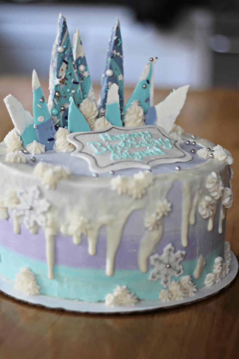 A 6th Birthday party Elsa birthday cake Disney frozen cake and