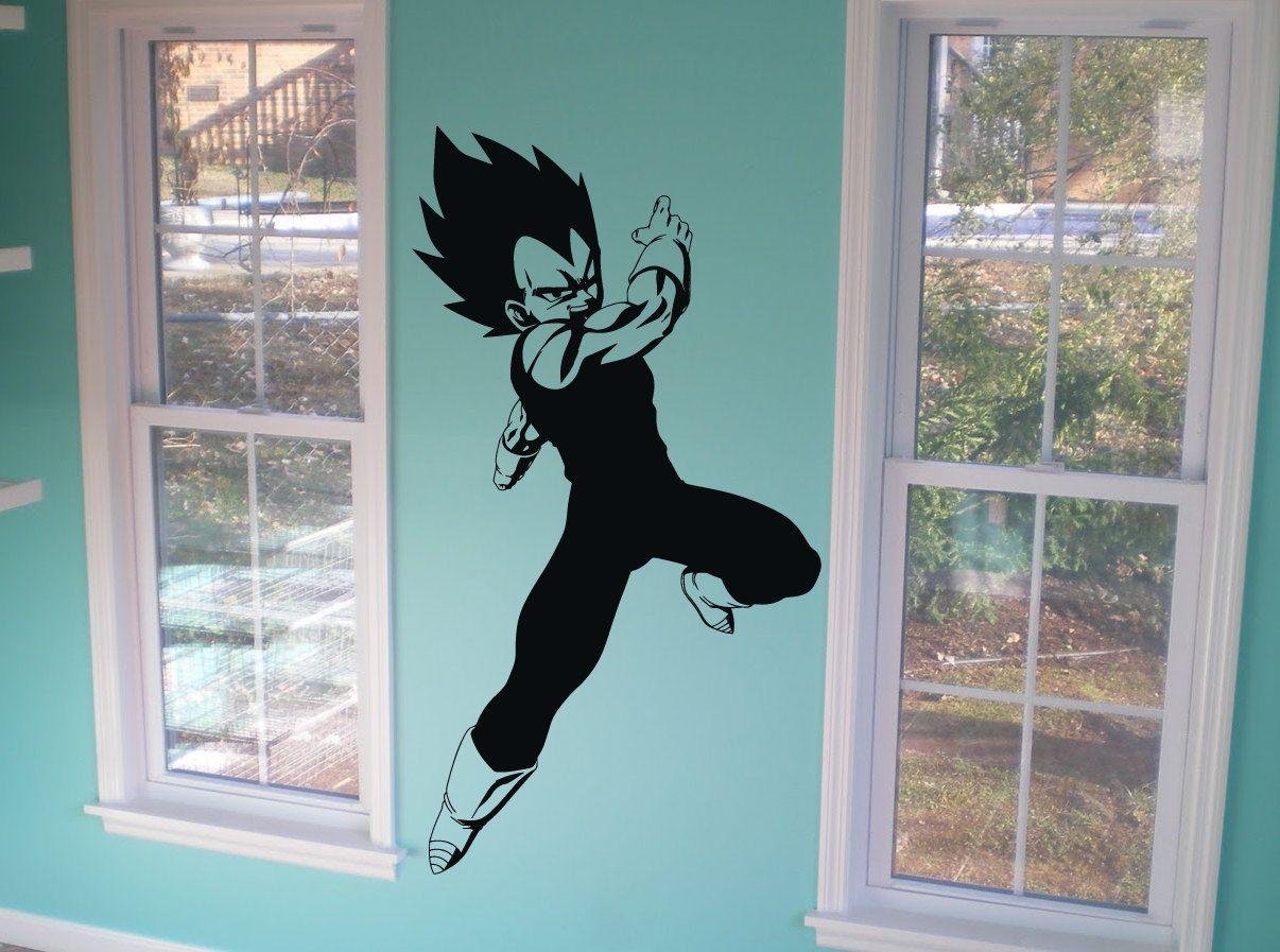 Dragon Ball Z Wall Decal Wall Art Vegeta By RespectPrinting - Dragon ball z wall decals