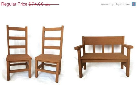 Vintage Philippines Recycled Wood Doll Furniture in Play Scale ...