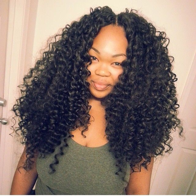 I M A Hug Fan Of Big Hair I Love This Crochet Braid Style By Crownsbyvee It Looks Like A Sew In Voiceofha Natural Hair Styles Hair Styles Wig Hairstyles