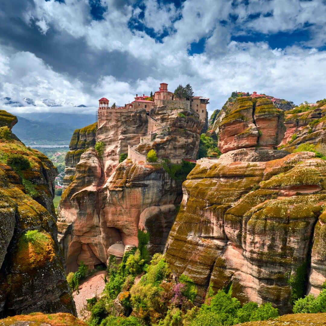 Meteora, a UNESCO World Heritage site, is a rock formation