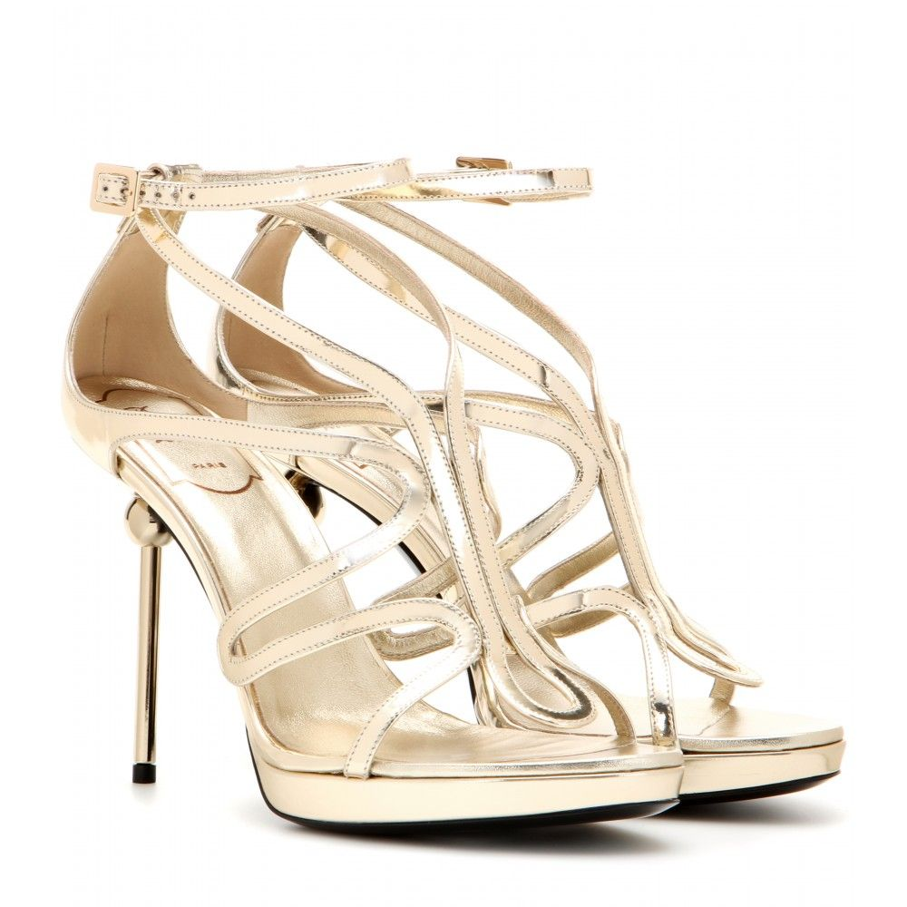 Roger Vivier Metallic leather sandals 14a4hn6G