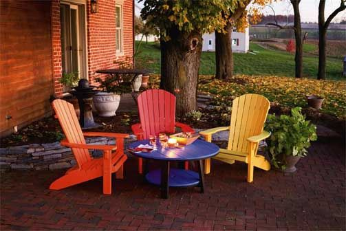 Painting Plastic Adirondack Chairs Poly Outdoor Furniture