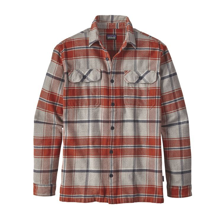 Patagonia Men's Long Sleeved Lightweight Fjord Flannel Shirt