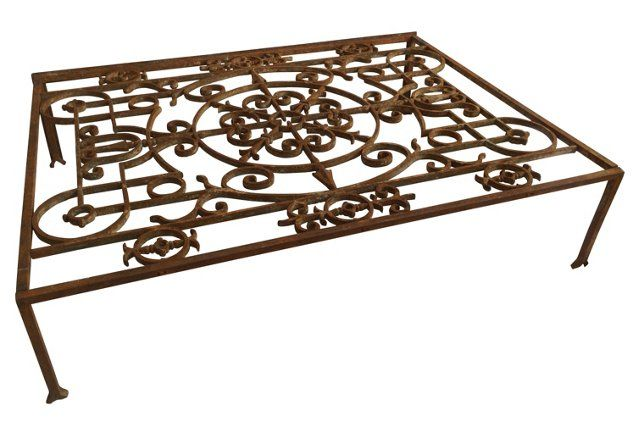 Marvelous French Iron Gate Cocktail Table
