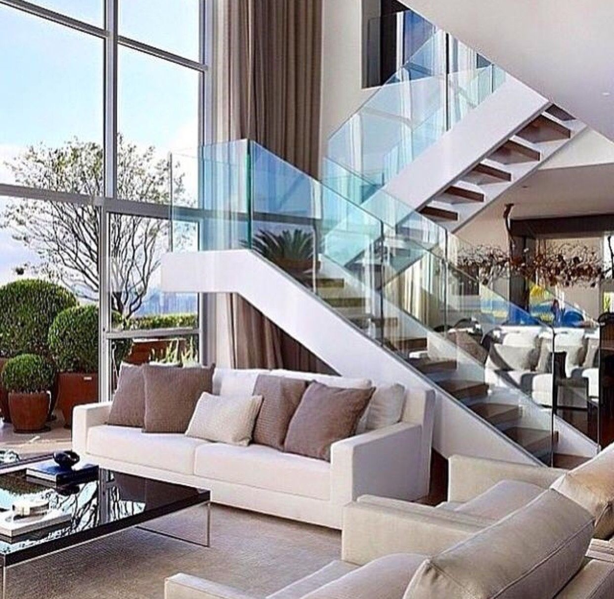 33 Staircase Designs Enriching Modern Interiors With: Pin On Modern Steel & Glass Stairs We Love