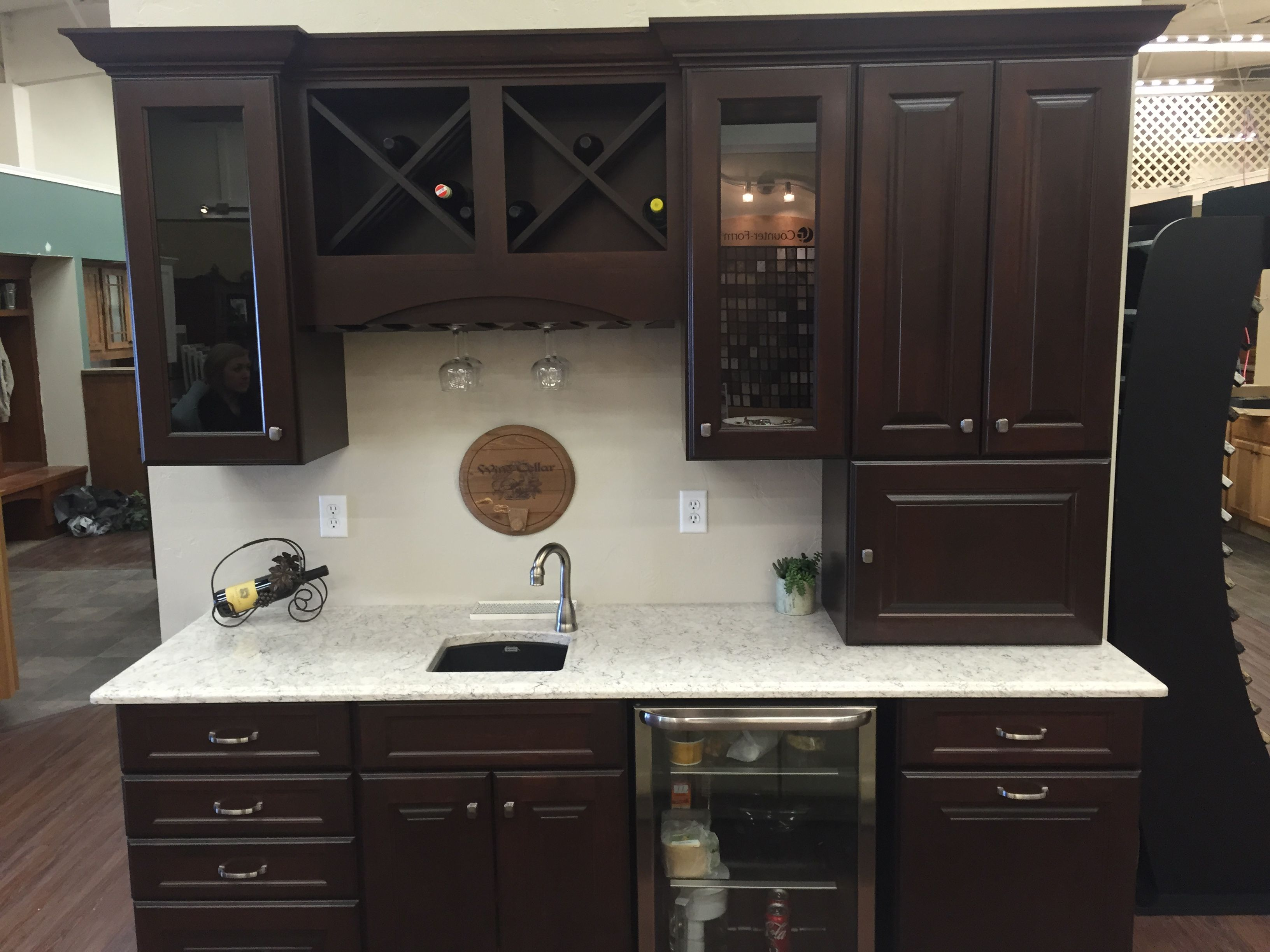 Northern Classic Cabinetry Wildwood Maple Russet Door LG ... on Maple Kitchen Cabinets With Quartz Countertops  id=21052