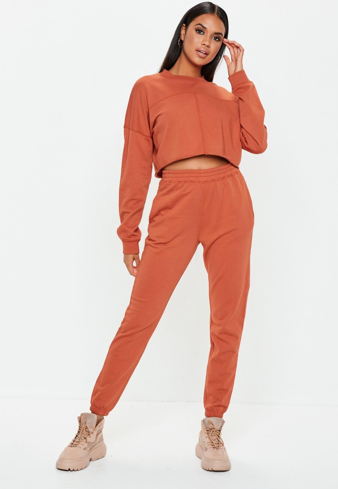 b6fde2940d2f Rust Slim Leg Joggers in 2019 | My Style | Slim legs, Trouser pants ...