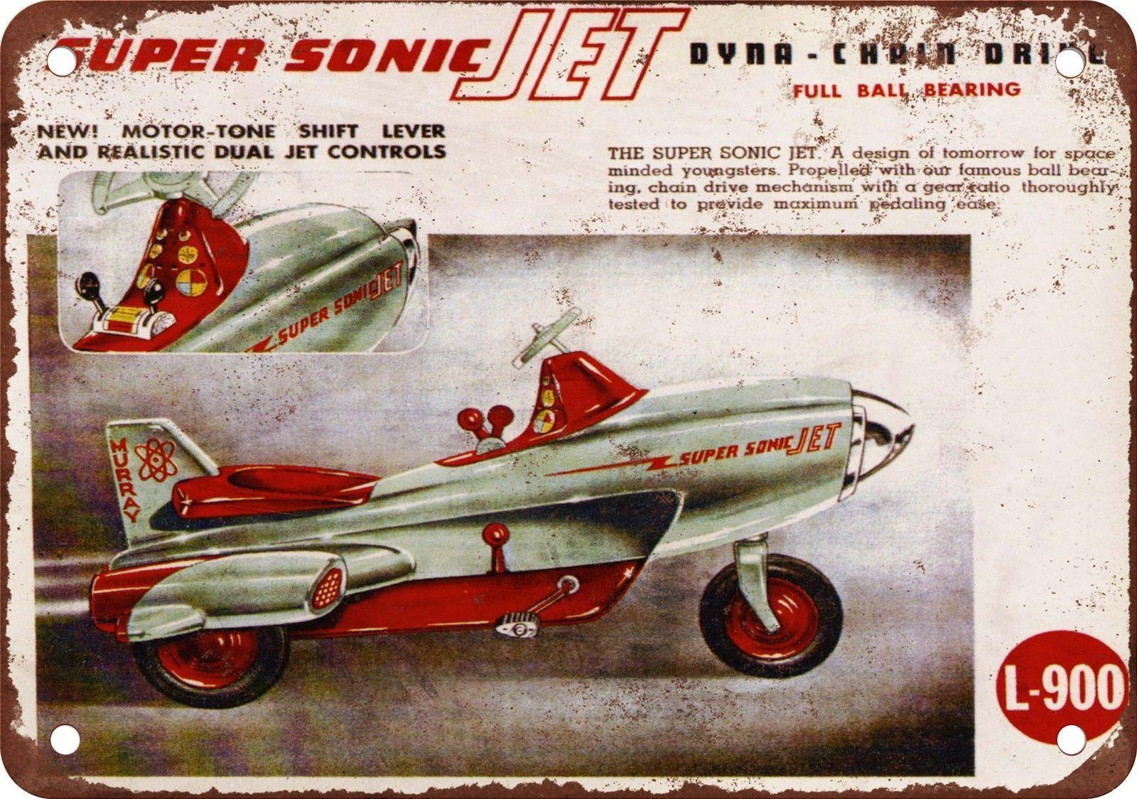 Super Sonic Jet Peddle Car Dyna Pedal Cars Vintage Pedal Cars