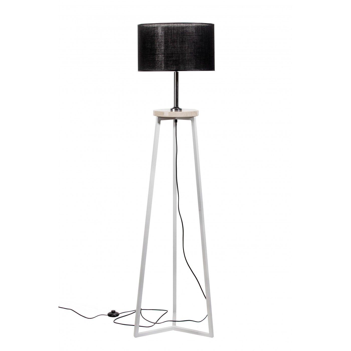 Loft Lampa Podlogowa Floki Black Marmur 167x42 Cm Tb400 House Design Lamp Design