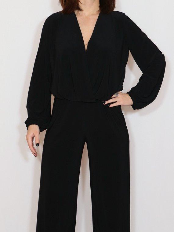 e474769de74 Black wide leg jumpsuit women Black long sleeve jumpsuit Black jumpsuit for women  Black loose ju