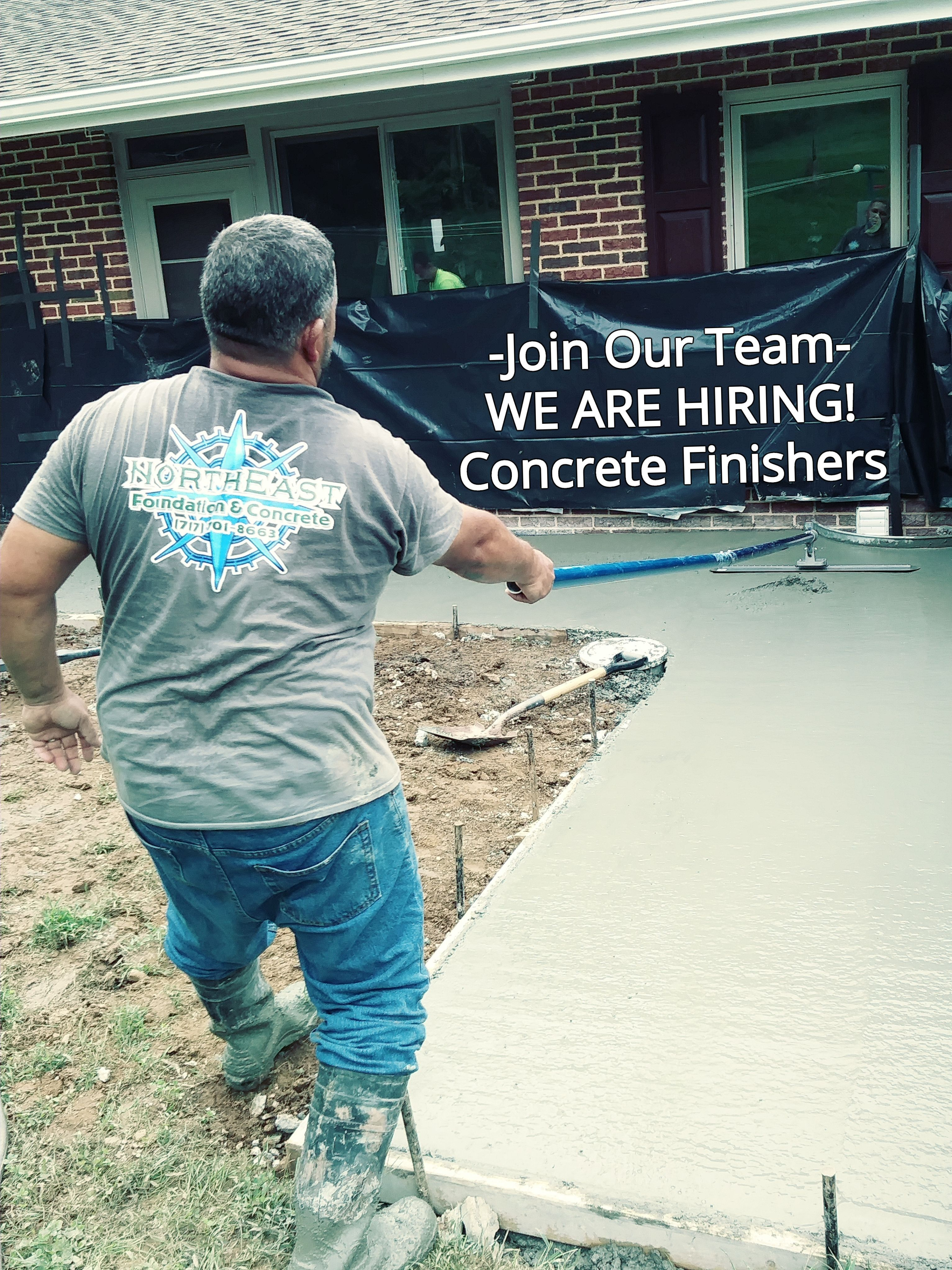Now Hiring Concrete Finishers Must Be Experienced To Be Considered Full Time Permanent Long Term Year A Aesthetic Solutions Foundation Repair Job Opening