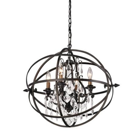 Byron 21 Hand Worked Bronze And Crystal Chandelier X5945