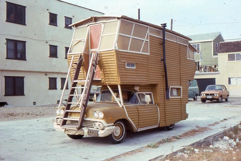 1958 chevrolet based 2 storey motorhome vintage campers trailers motorhome motorcycle camping 1958 chevrolet based 2 storey motorhome