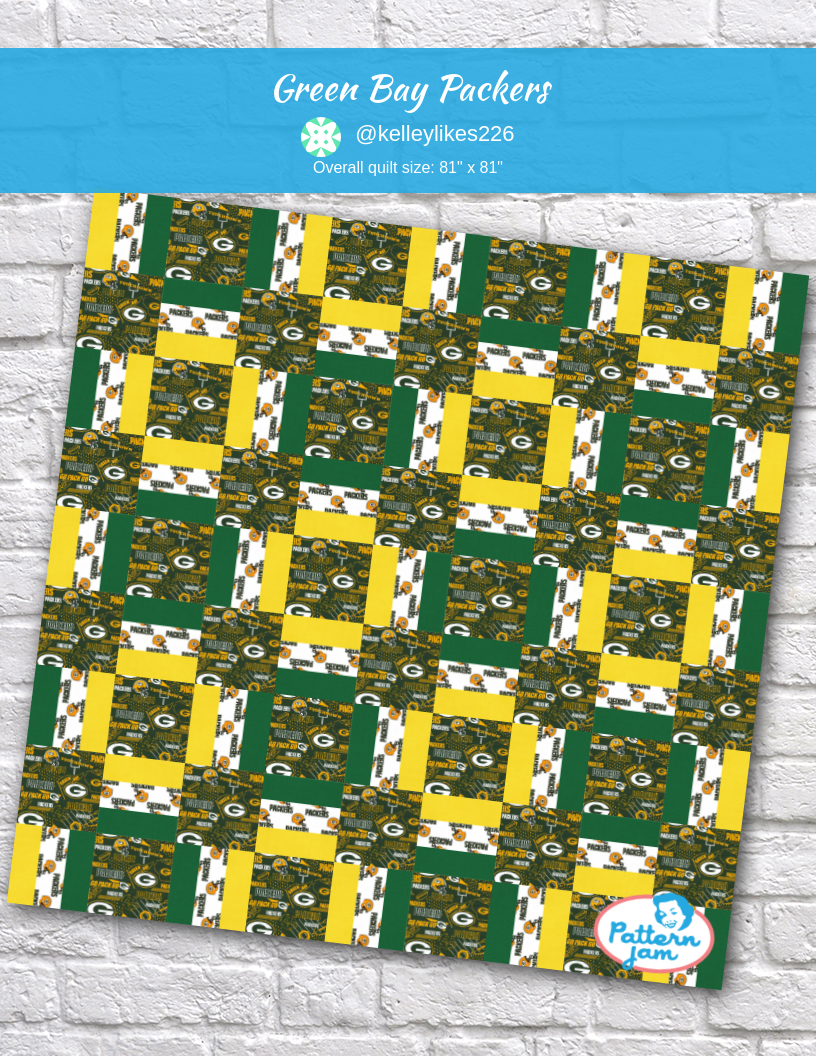 Greenbay Packers Quilt Hand Made We Love Our Green Bay Packers Quilts Green Bay Packers Crafts Green Bay Packers
