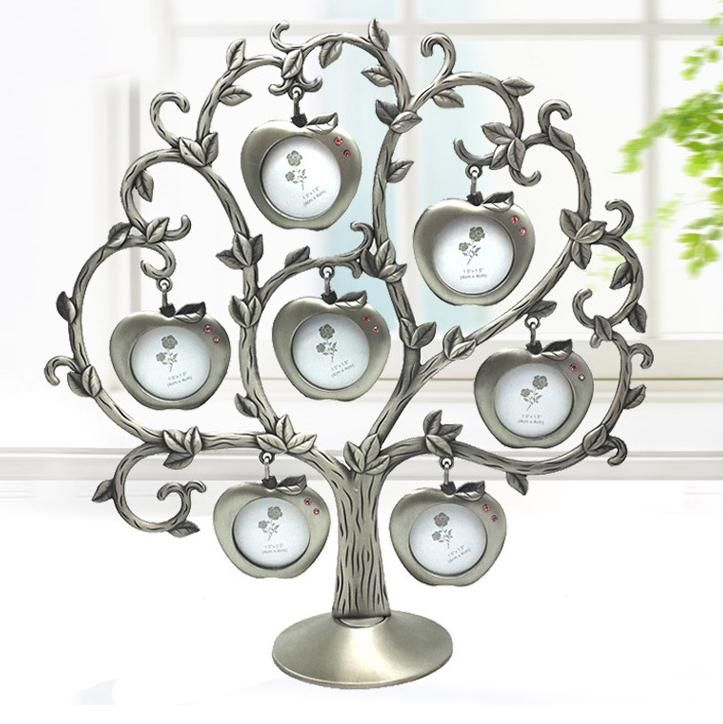 Visit to Buy] New Fashion Family AppleTree Metal Photo Frame Noble ...