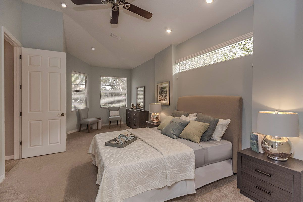 Master Bedroom in a Lakewood Ranch Home in Greenbrook