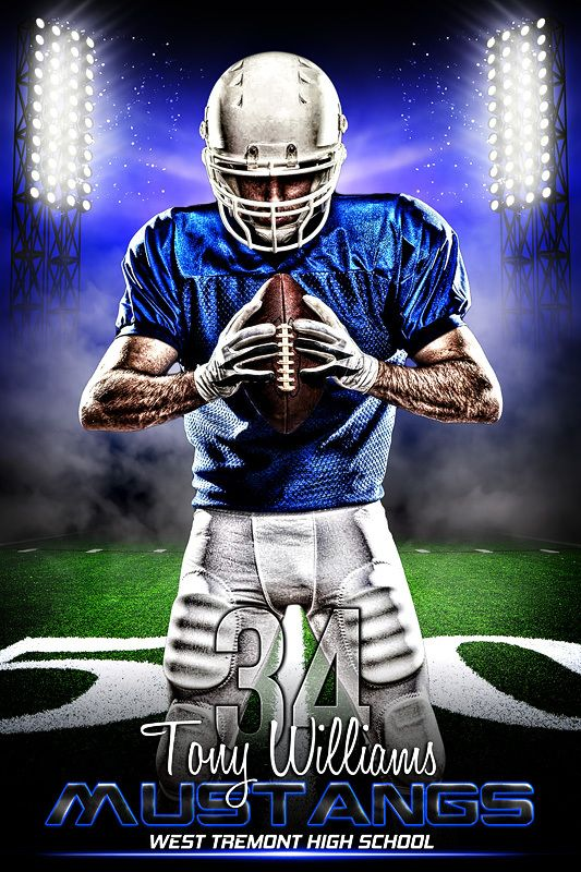 Player Banner Sports Photo Template Prime Time Football