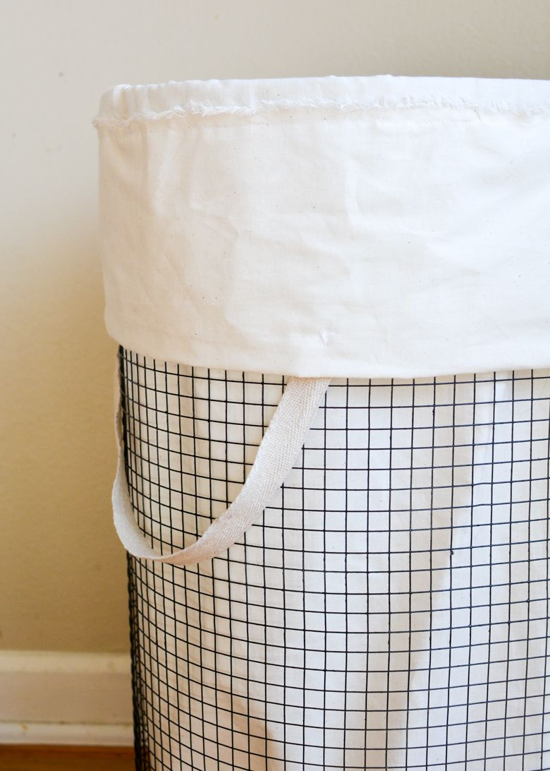 Pretty Laundry Baskets Unique Cheap & Chic How To Make A Frenchvintageinspired Wire Hamper Decorating Inspiration