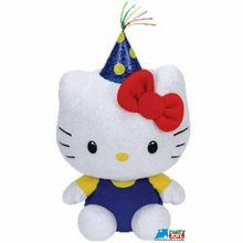 "Hello Kitty Ty Beanie Baby Small 6"""" Plush Toy - Celebration"