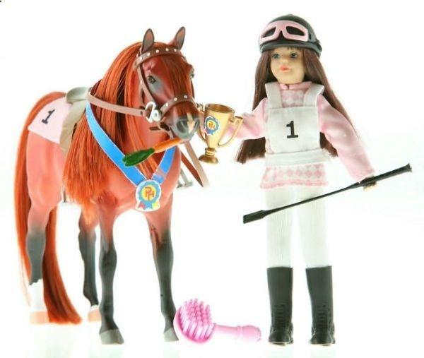 Paradise Horses POZ-ABLES Doll and Horse - Racing Set