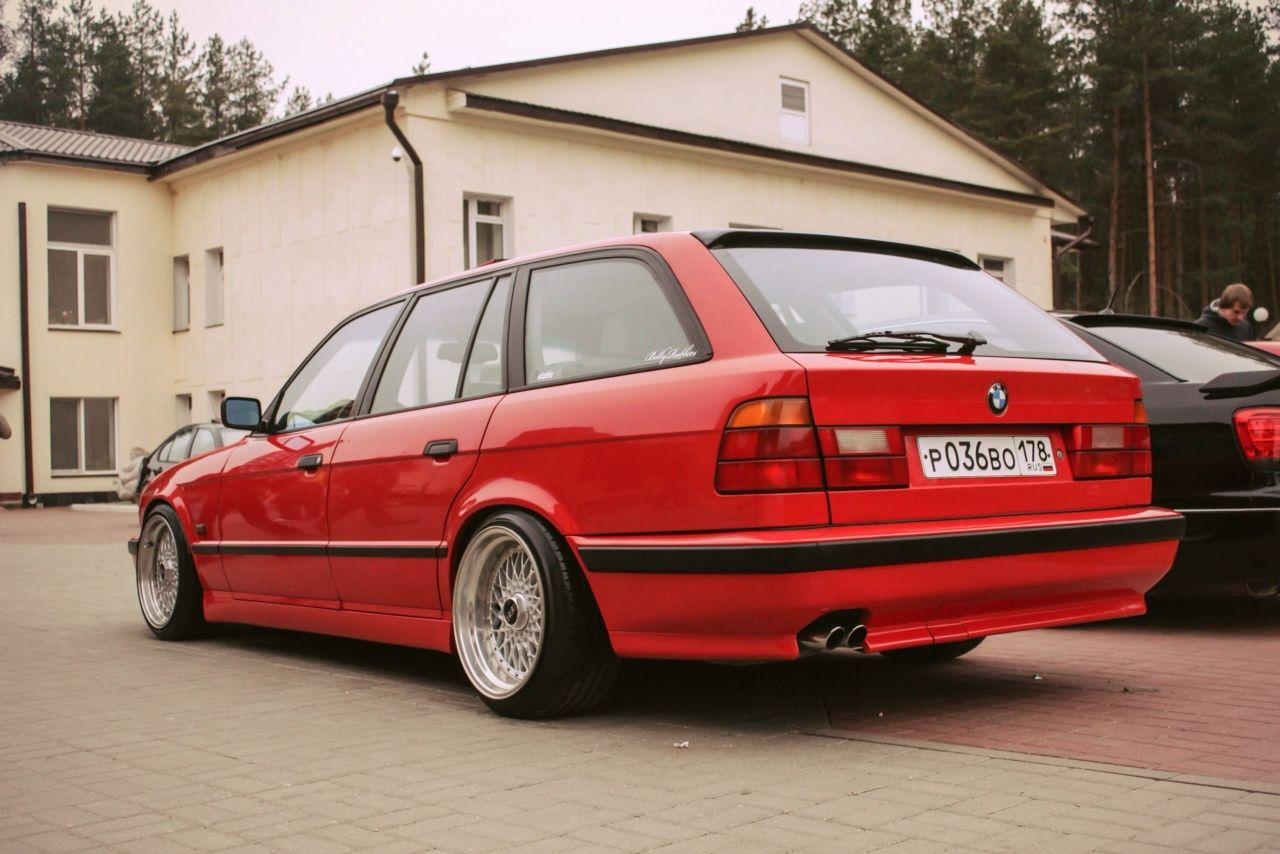 E34   BMW   red BMW   red cars   classic cars   old school cars ...