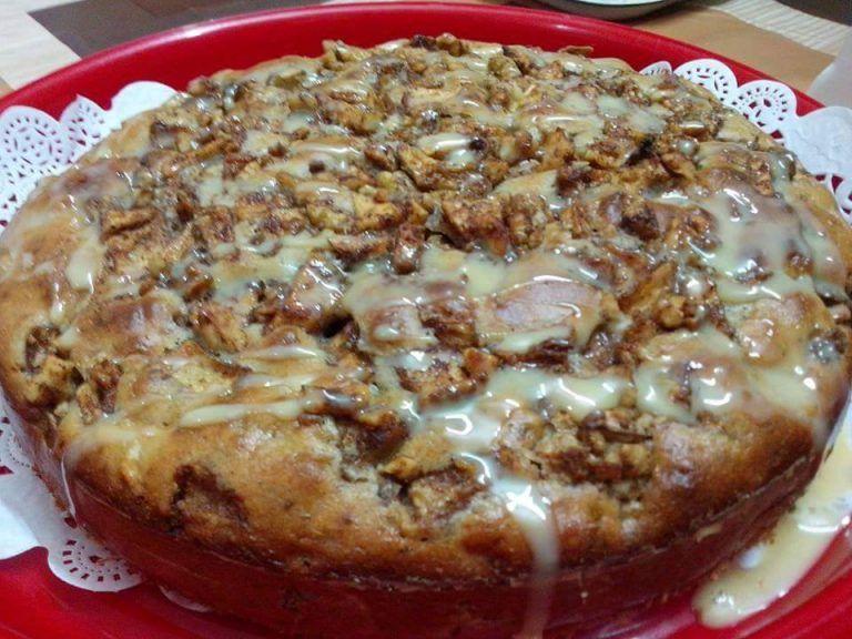 كيكة التفاح والقرفة والجوز على أصولها زاكي Food Cheese Breakfast