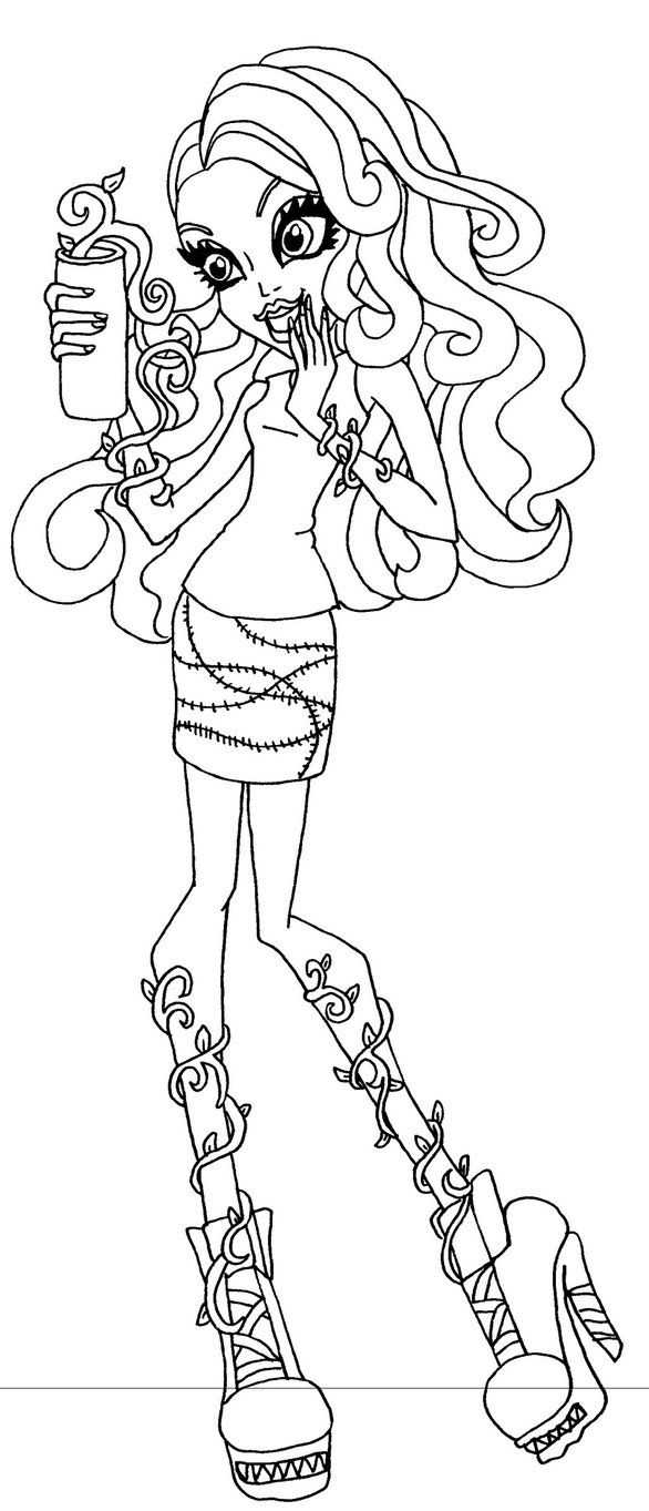 Coffin Bean Venus by elfkena on DeviantArt - a coloring page of ...