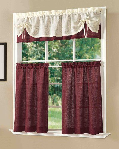 Pin by Rebecca Fulton on Kitchen in 2019   Kitchen curtain ...