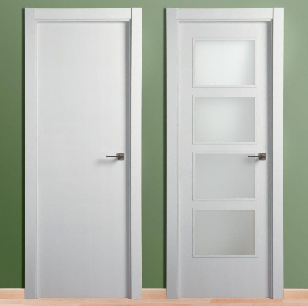 Puerta lacada lisa puertas carsal puerta pinterest for Precios puertas interior blancas